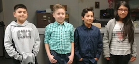 Five Fifth-Graders Attain Masters Level Status