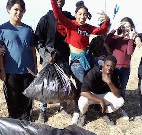 Youth From FBC Clean Vacant Lot