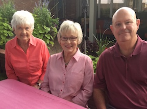 class of 82 reunion in 2018 - carolyn rowland, marie clevenger and david turner